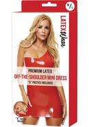 Prem Latex Offtheshoulder Mini Dress-rd