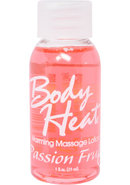 Body Heat Edible Warming Massage Lotion Passion Fruit 1...