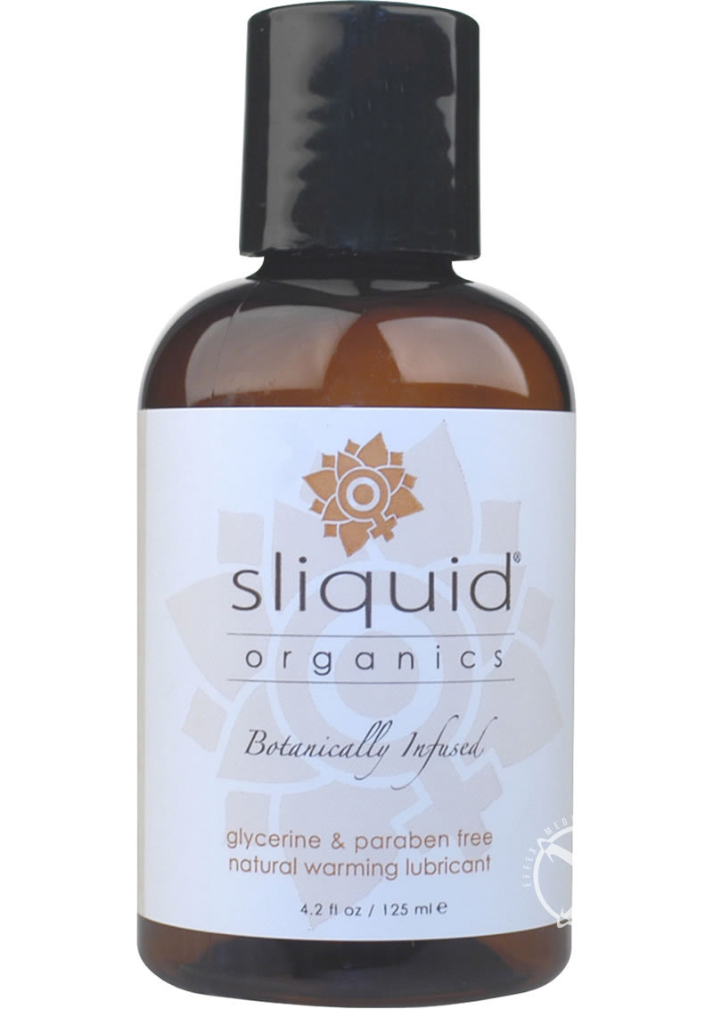 Sliquid Organics Sensation Botanically Infused Naturally  Warming Lubricant 4.2 Ounce