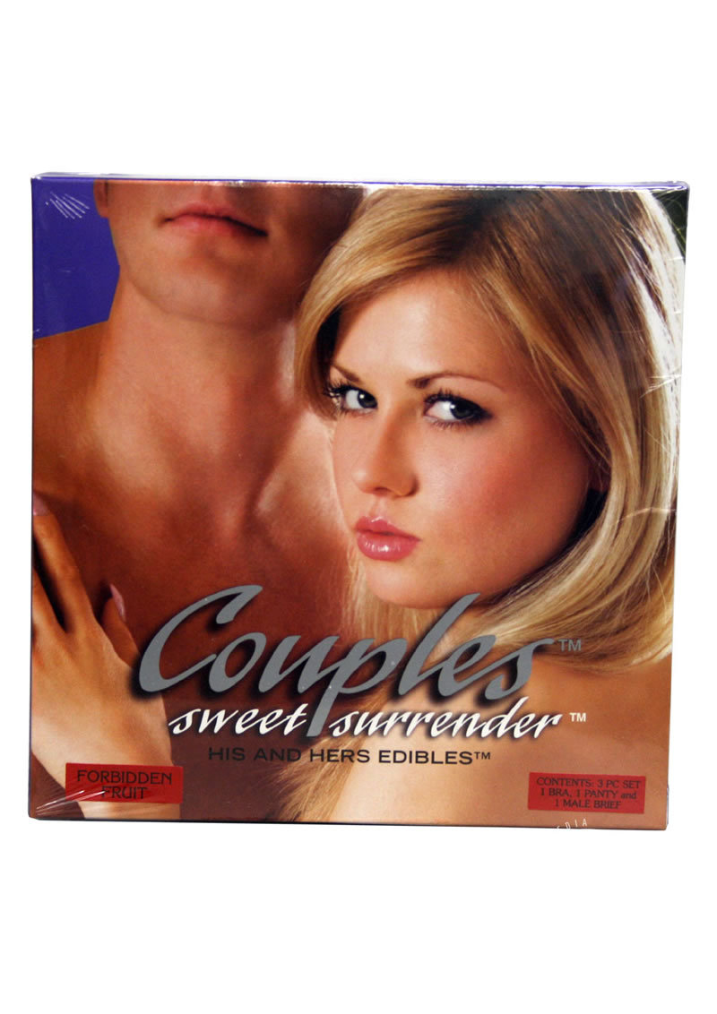 Couples Sweet Surrender His And Hers Edibles 3 Piece Forbidden Fruit